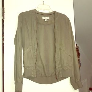 Sage green bomber jacket